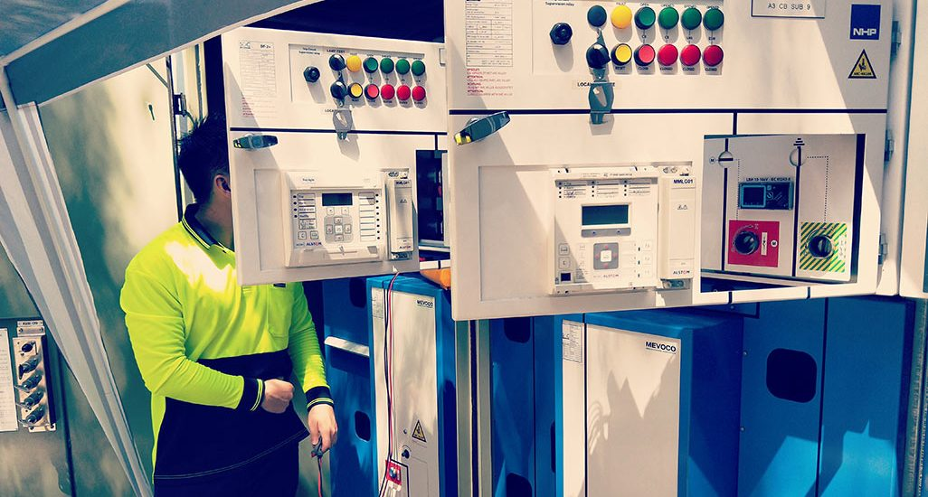 Sandgate HV Upgrade Site Testing and Commissioning Photo